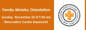 family ministry orientation