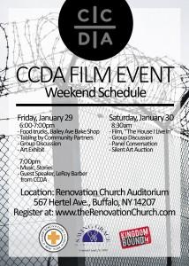 CCDA Film Postcard Back