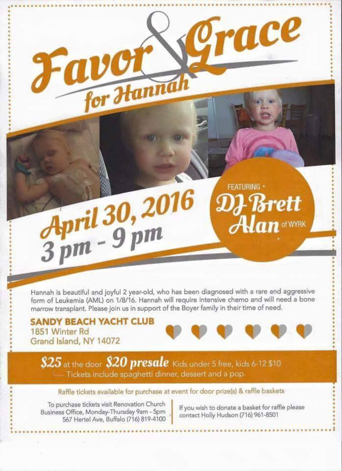 Benefit for Hannah Boyer - April 30th